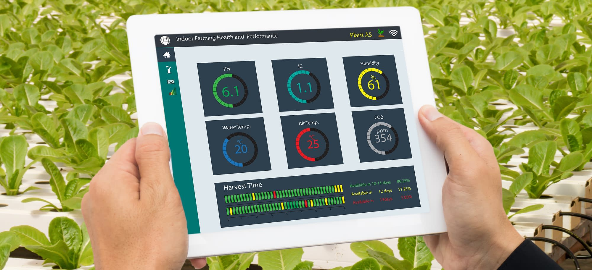 IoT Solutions - Smart Farming Concept Solution Image